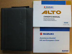 suzuki alto owners manual handbook wallet 2002 2006 pack 12657 ebay rh ebay co uk auto owners manual cover auto owners manuals free download