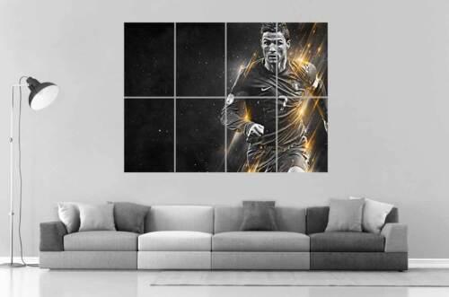 Cristiano Ronaldo Fußball CR7 Hafen Wall Art Plakat Groß Format A0 Groß Druck