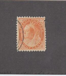 CANADA (MK6918) # 82 VF-USED 8cts 1898 QUEEN VICTORIA NUMERAL /ORANGE CV $40