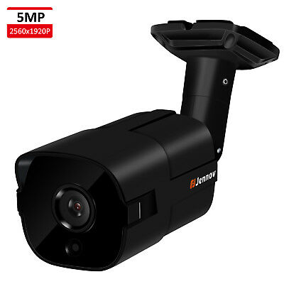 5MP POE IP CCTV Security Camera HD 1920P Outdoor with Audio H.265 Cloud Storage