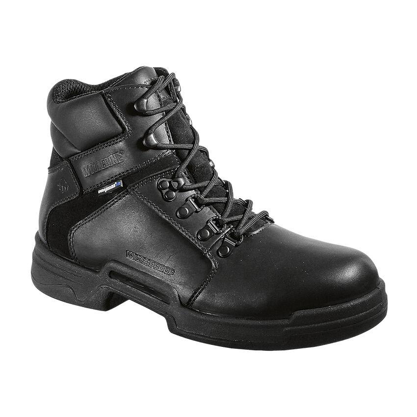 New Men's Wolverine W10250 Griffin Black Leather Waterproof  softToe Work Boot