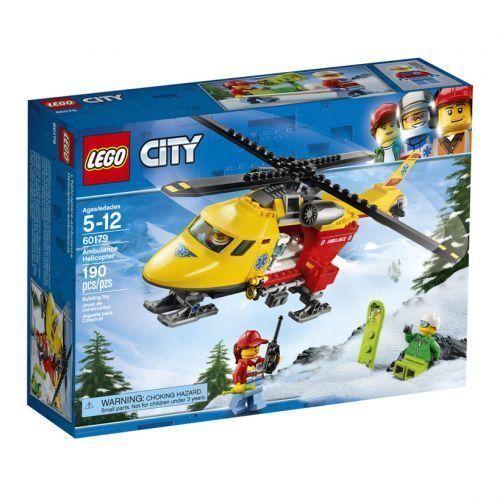 60179 AMBULANCE HELICOPTER lego city town SEALED new EMS legos set skier
