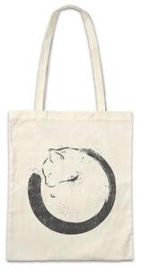 3d12ea076dc93 Das Bild wird geladen Cat-Circle-Stofftasche-Einkaufstasche-Katze-Katzen- Liebe-Kreis-