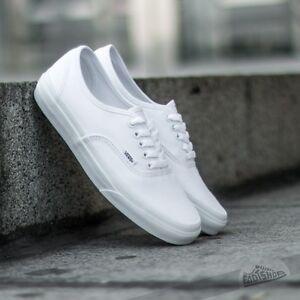 820d269d5a99ea Image is loading Vans-Authentic-True-White-Mens-Womens-Canvas-Shoes-