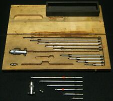 Starrett Inside Depth Micrometer Set No 124 With Case Plus Additional Set