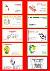 Details Zu 100 Visitenkarten Ihre Design Business Card Vorlage Schnell Top Drucken