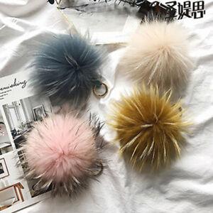 10 X Faux Rabbit Fur Pompoms Fur Balls Furry Keyring Pendant Hat Accessor