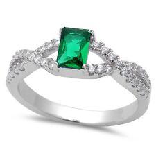 Tanzanite, Ruby, Green Emerald, Blue Sapphire .925 Sterling Silver Ring Sz 5-9