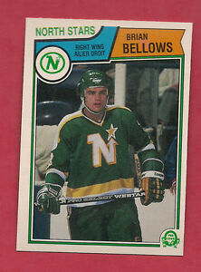 1983-84-OPC-167-NORTH-STARS-BRIAN-BELLOWS-NRMT-CARD