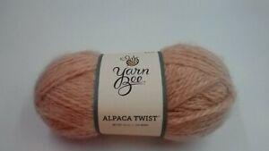 1 Skein Yarn Bee Alpaca Twist Blush Color 90% Acrylic 10% Aplaca