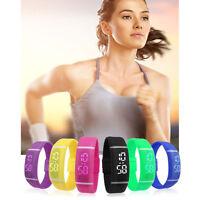 New Men Women Silicone Rubber LED Watch Date Sports Bracelet Digital Wrist Watch