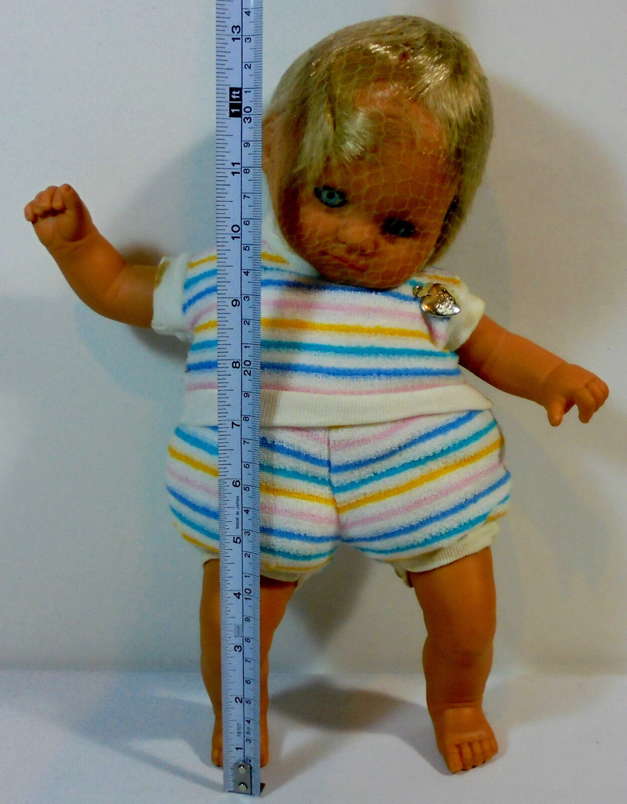 EL GRECO VTG 80's GREEK 13'' BABY DOLL TO TO TO MORAKI MOY UNUSED - NO BOX a132ea