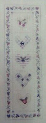 Vintage Cherry Heart Shepherd/'s Bush Counted Cross Stitch Kit Designed by Tina Richards Herman Heart Cross Stitch Kit