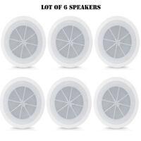 Lot Of 6 Pyle 6.5 Full Range In-ceiling Flush Mount Enclosure Speaker System on Sale