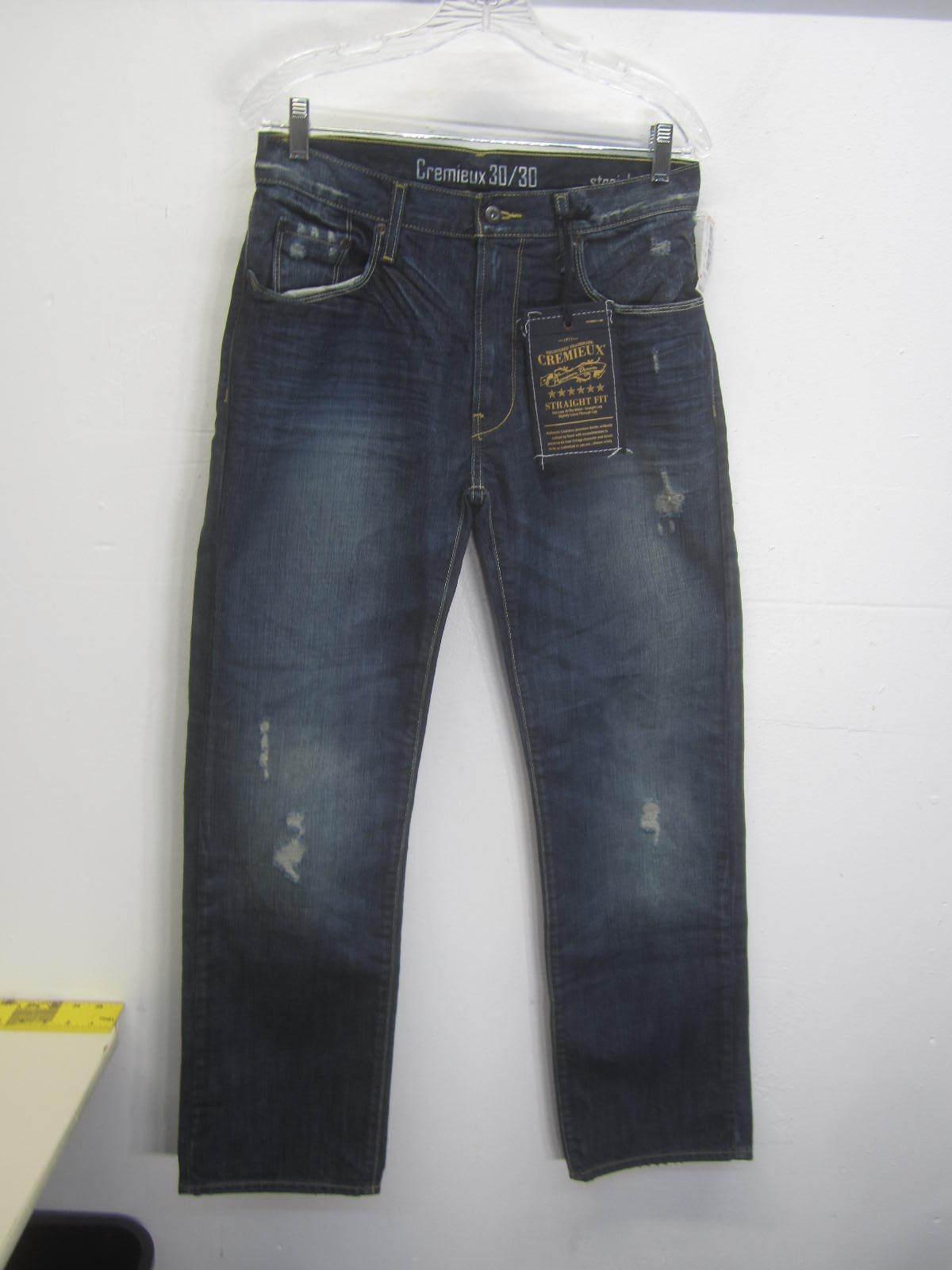 NWT Daniel Cremieux bluee Jeans dark wash distressed straight leg sz 30x30