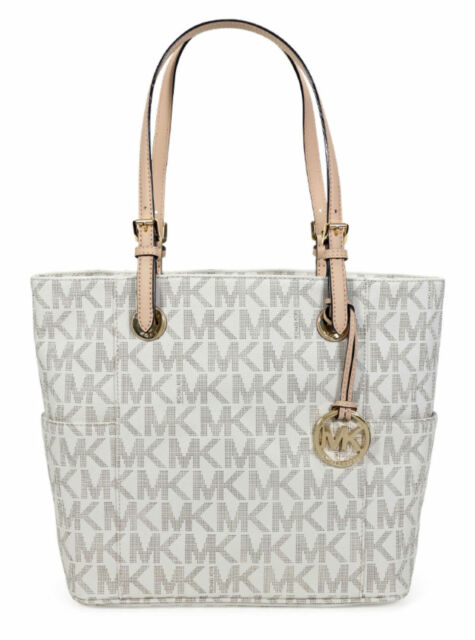 caa6be5b4b4e Michael Kors 30S11TTT4B Jet Set Logo Print Signature Vanilla Tote Handbag  for sale online