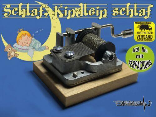 Schlaf Kindlein schlaf Spieluhr Musikuhr Musicbox Spieldose Neu Kinderlied