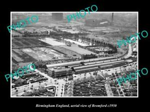 OLD-LARGE-HISTORIC-PHOTO-BIRMINGHAM-ENGLAND-AERIAL-VIEW-OF-BROMFORD-c1950-1