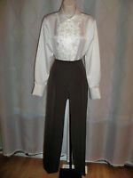 Talbots Brown Heritage Style Tailored Stretch Must Have Pants 4 Classic