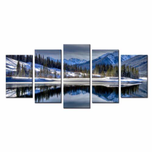 Landscape Art for Wall Home Decor Snow Mountain Canvas Prints Picture 5pcs
