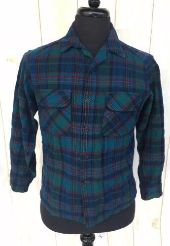 Vintage Pendleton Flannel Shirt Wool Plaid Mens Me