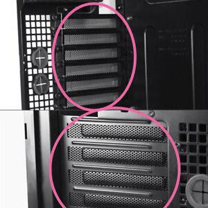 10-stuecke-Schwarz-PCI-Slot-Abdeckung-Staubfilter-Blindplatte-Hartstahlschrauben