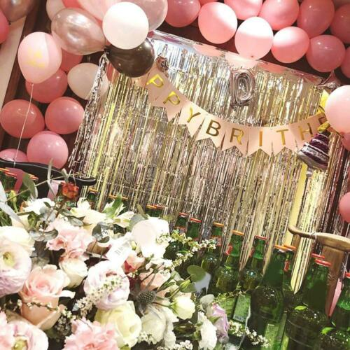Foil Fringe Tinsel Shimmer Curtain Door Wedding Birthday Party