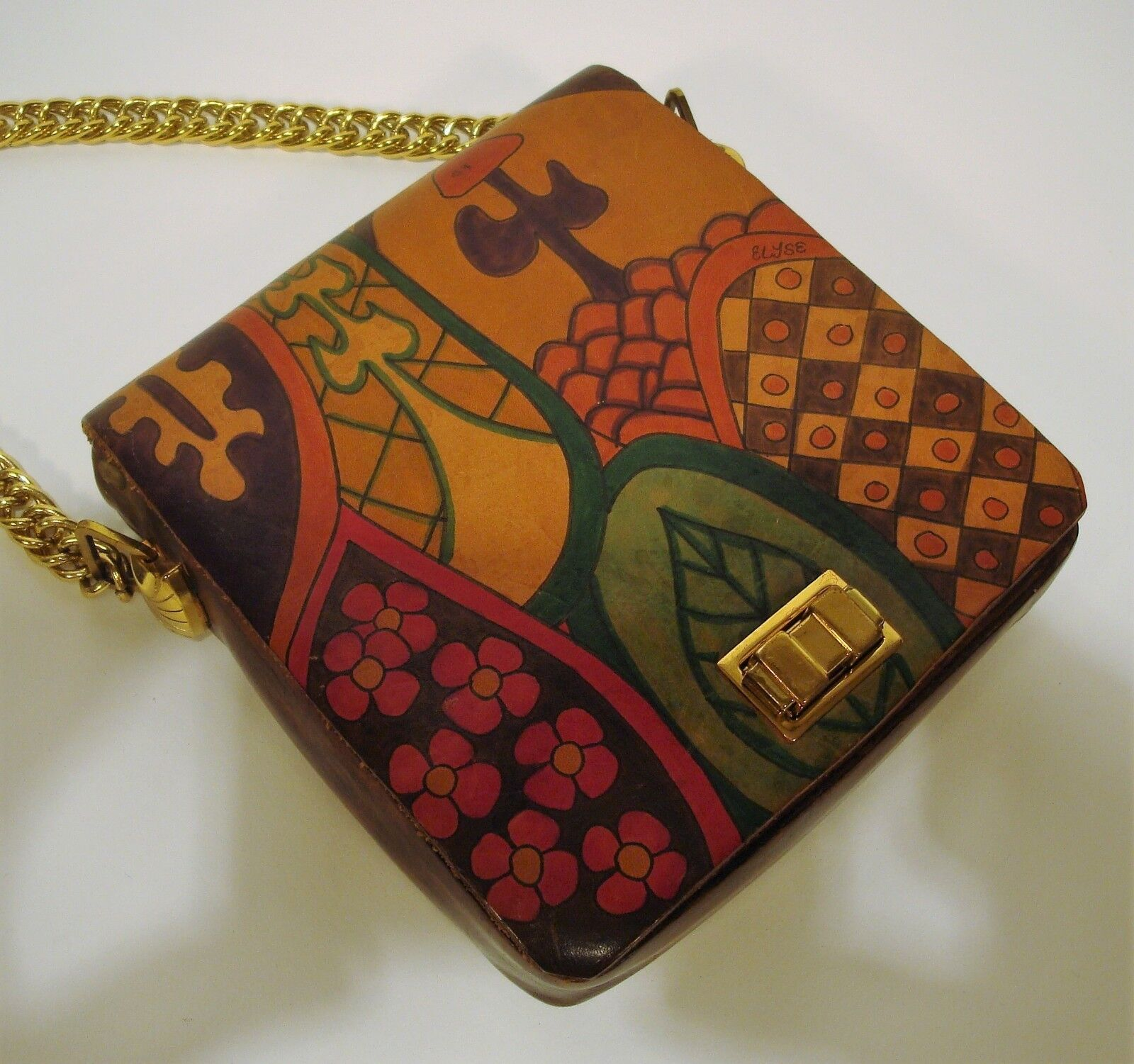 1970's Handmade & Painted ELYSE STONE Psychedelic… - image 5