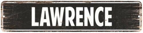 LAWRENCE Personalized Street Sign Home Decor Chic Gift 4x18 104180003323