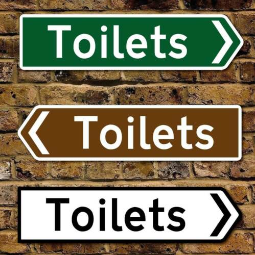 """Robust /& Fully Weatherproof 16/"""" Toilet Sign Pointing Finger Sign,Direction Sign"""