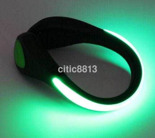 Luminous LED Shoe bike Light Clip Warning Lamp fits Night Walking Running bike