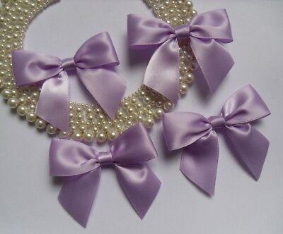 """W 3/"""" R0046U Light Purple Satin Ribbon Bows Appliques-Lots of 15"""