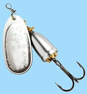 Vintage-Blue-Fox-Super-Vibrax-Silver-Spinner-Lure-Choice-of-Size-One-Package