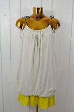 SEE BY CHLOÉ Damen Kleid Sommerkleid Trägerkleid Jersey Hellgrau Gelb Gr.36
