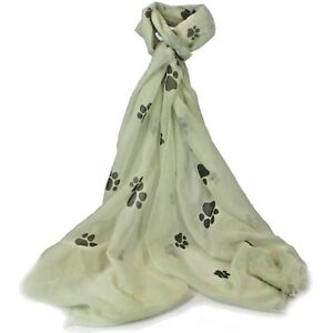 Cream-Paw-Print-Scarf-Grey-Blue-Pink-Paws-Cat-Gift-Cats-Dog-Dogs-Present-Santa