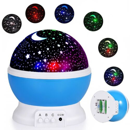 TOYS FOR BOYS Kids Amazing Romanic Projector Kids LED Night Light Star Xmas Gift