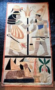 2019 Nouveau Style Large Hanging Antique Applique Quilt Egyptian Khayamyah Tapestry Panel 1930