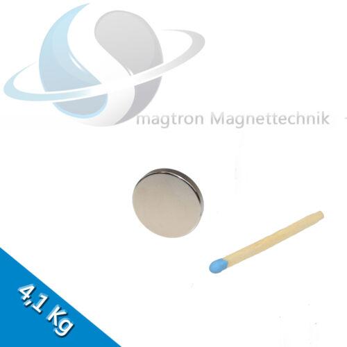 10 NEODYM MAGNETE Ø20x3 mm NdFeB N45 Scheibenmagnete Nickel