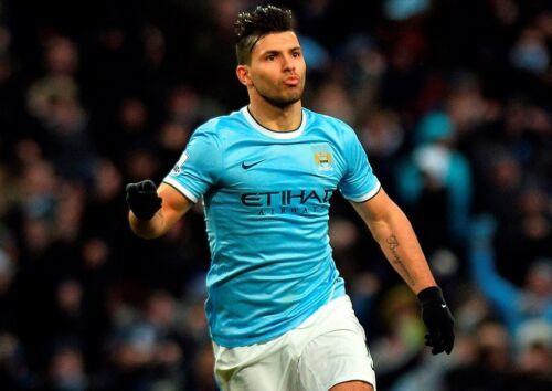 Sergio Aguero 8 Menchester Argentine Football Player Poster Sport Motivation
