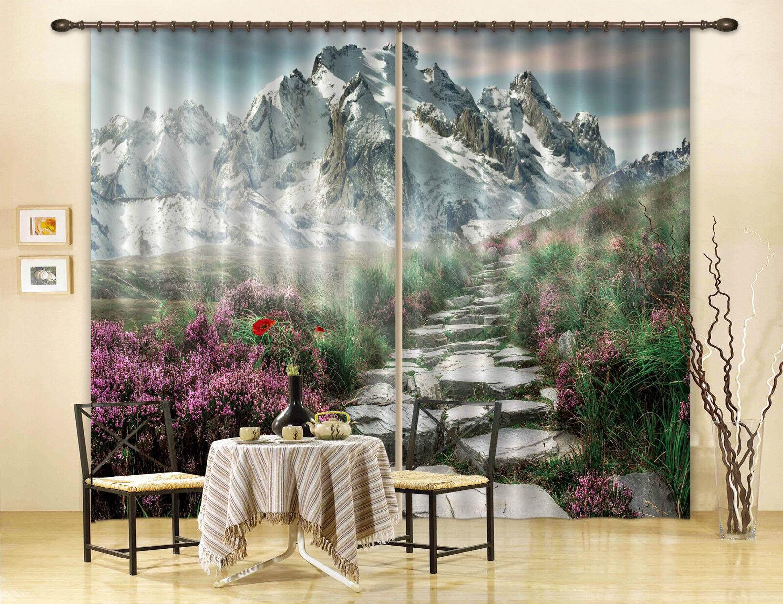3d Berg flor 6344 bloqueo foto cortina cortina de impresión sustancia cortinas de ventana