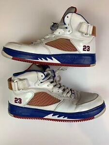 buy online 2433f b21c5 Image is loading Nike-Air-Jordan-Fusion-Ajf-5-White-Red-