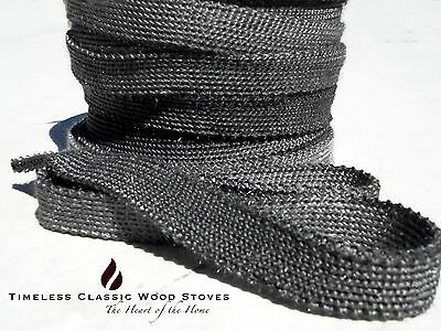 25mm x 3mm Fibreglass flat sealing rope gasket repair for Wood fire Stove