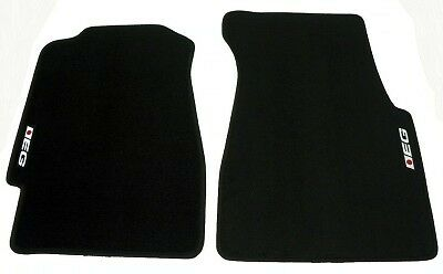 4PC SET 92-95 HONDA CIVIC 3 DR EG EG6 BLACK FLOOR MATS CUSTOM INTERIOR CARPETS