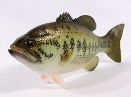 """Hand Painted 18/"""" Large Mouth Bass Standing Game Fish Figurine Statue F016B"""