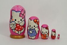 5 pcs Russian Nesting Doll HELLO KITTY #3654