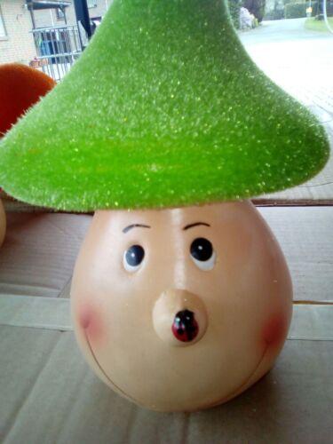Gartentipp NEU pinkfarbene Mütze!! 1 lustiger Pilz aus Terracotta