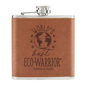 World-039-s-Best-Eco-Warrior-170ml-Cuir-PU-Hip-Flasque-Fauve-Worlds-Best-Prefere