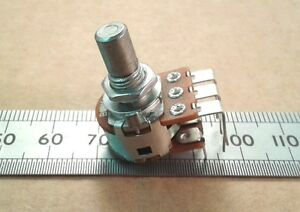 Stereo-Dual-Vertical-PCB-Mount-6-0mm-Round-Shaft-Pot-Linear-Potentiometer-VR60ST