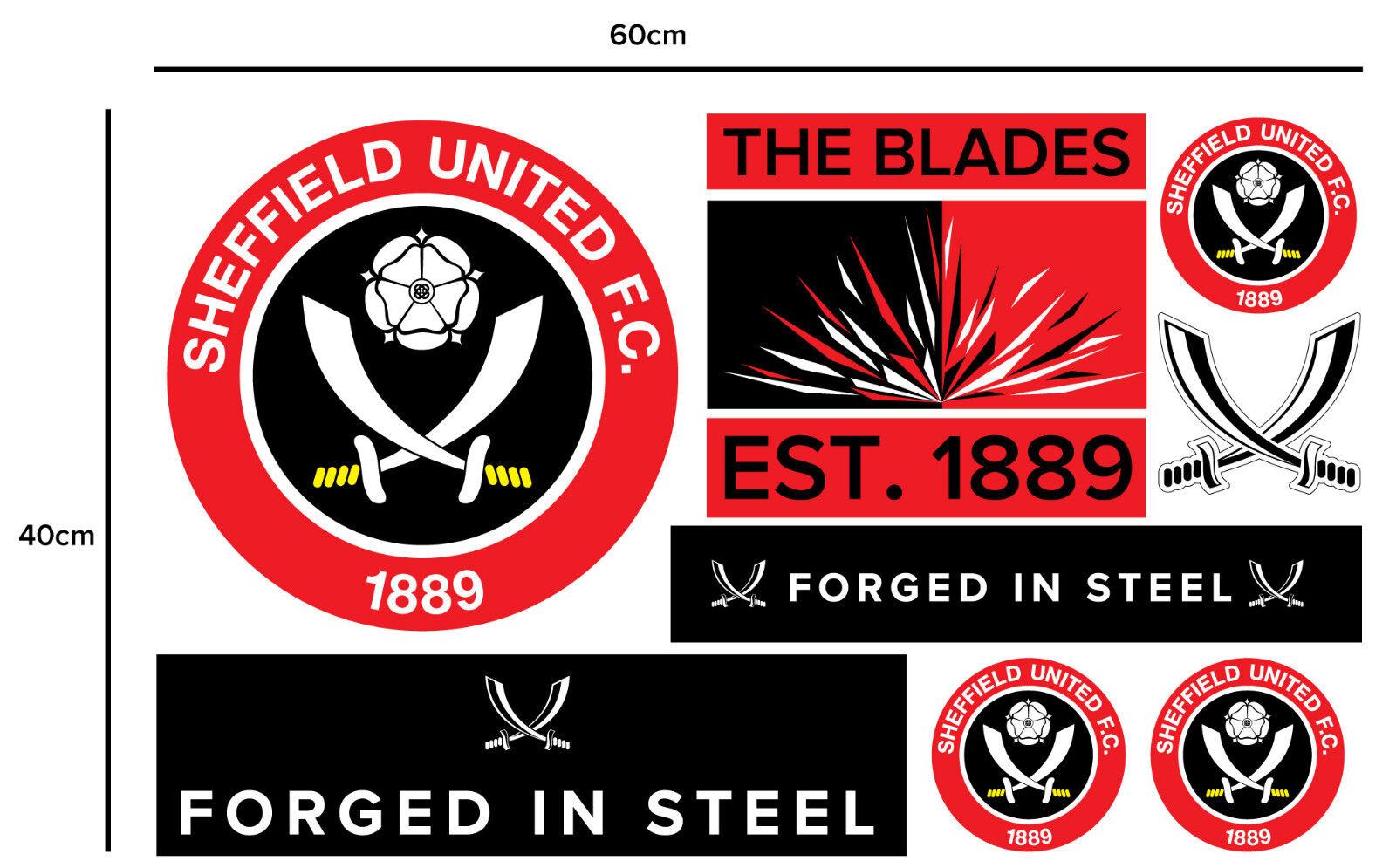SHEFFIELD United FC Ufficiale uno uno uno stemma a Coloreeei + Adesivo Muro Set Decalcomania In Vinile e3d40a