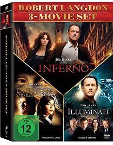 3 DVDs * DAN BROWN BOX (SAKRILEG/ILLUMINATI/INFERNO) # NEU OVP <